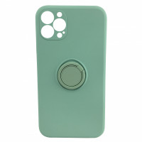 Чехол iPhone 12 Pro Max Silicone Case with Ring Holder (mint)