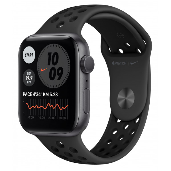Apple Watch Nike Series 6 GPS 40mm Space Gray Aluminum Case w. Anthracite/Black Nike Sport B. (M00X3UL/A) UACRF