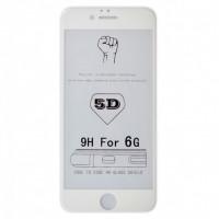 Защитное стекло 5D iPhone 6/6S (white)