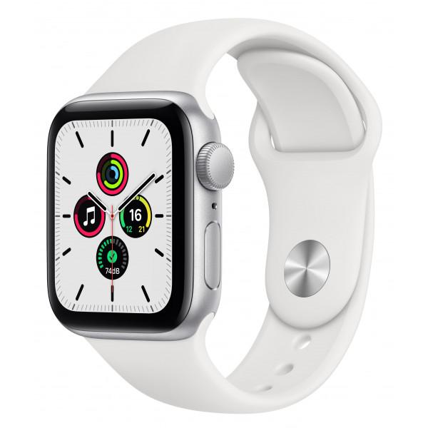 Apple Watch SE GPS 40mm Silver Aluminum Case w. White Sport B. (MYDM2UL/A) UACRF