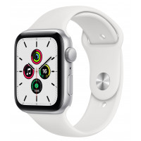 Apple Watch SE GPS 44mm Silver Aluminum Case w. White Sport B. (MYDQ2UL/A) UACRF