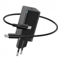 Сетевое зарядное устройство Baseus GaN2 Quick Charger 45W + Type-C to Type-C Cable (Type-C/Type-C) Black