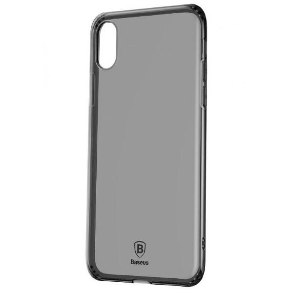 Чехол Накладка для iPhone X/Xs Baseus Simple Series Case (transparent black)