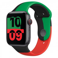 Apple Watch Series 6 GPS 40mm Space Gray Aluminum Case w. Black Unity Sport B. (MJ6N3)