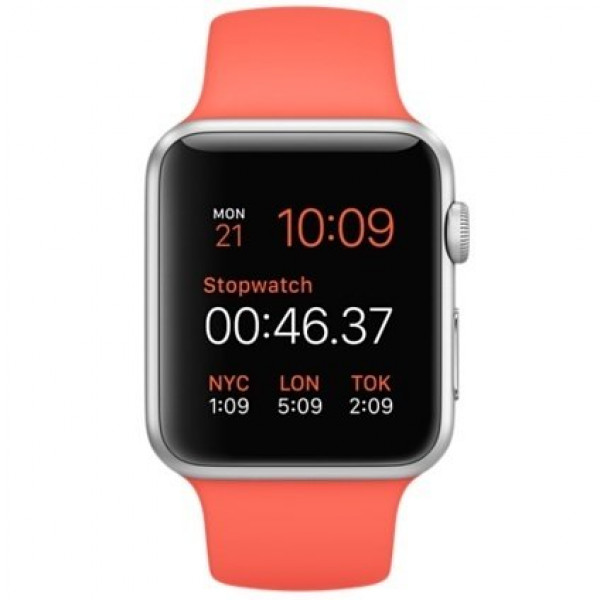 Apple Watch Sport 42mm Silver Aluminum Case with (PRODUCT)RED Sport Band (MMED2)