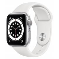 Apple Watch Series 6 GPS 40mm Silver Aluminum Case w. White Sport B. (MG283UL/A) UACRF