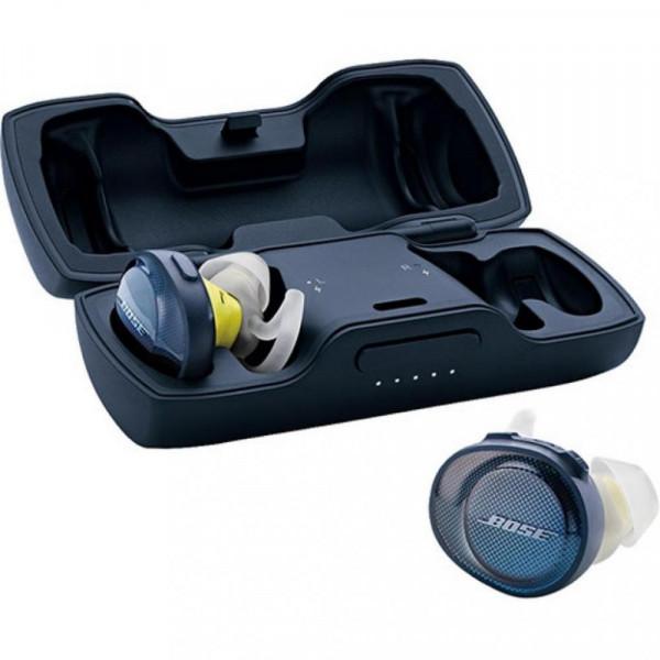 """Наушники TWS (""""полностью беспроводные"""") Bose SoundSport Free Wireless Midnight Blue/Citron 774373-0020"""
