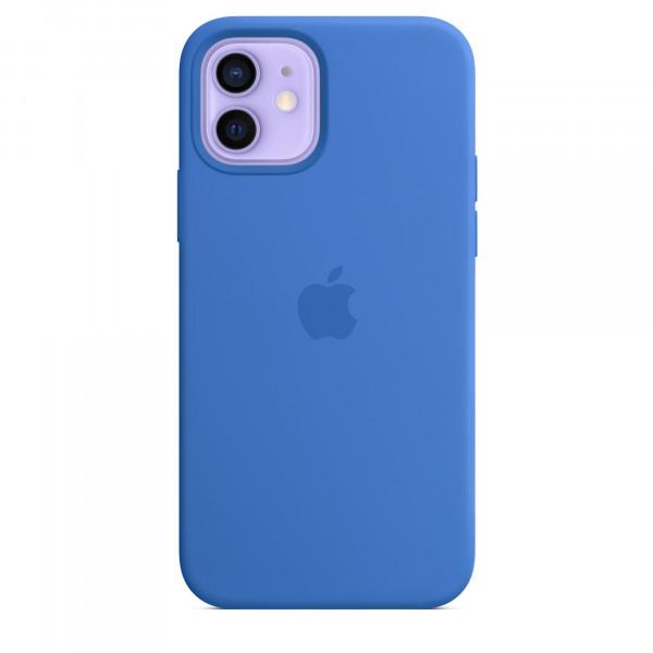 Чехол iPhone 12/12 Pro Apple Silicone Case (Capri Blue)