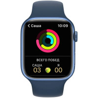 Apple Watch Series 7 GPS 41mm Blue Aluminum Case With Blue Sport Band
