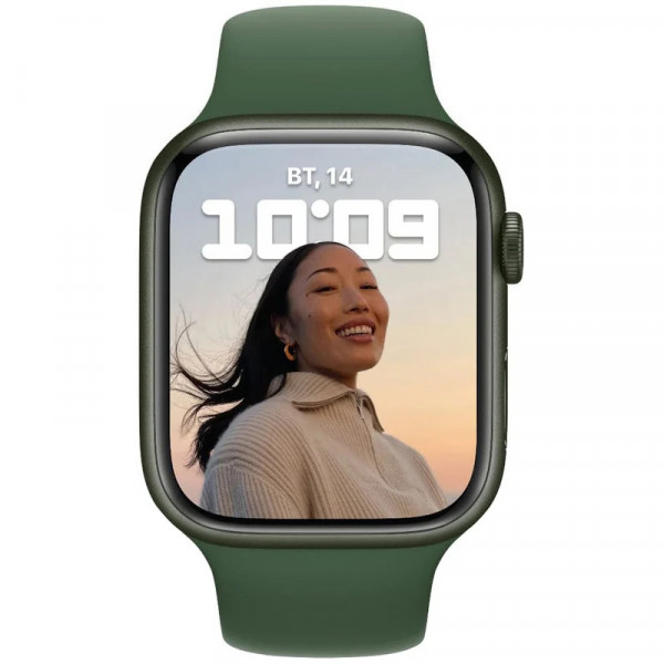 Apple Watch Series 7 GPS 45mm Green Aluminum Case With Green Sport Band