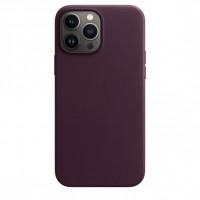 Чехол для iPhone 13 Pro Apple Leather Case with MagSafe (Dark Cherry)
