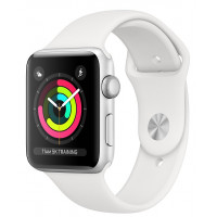 Apple Watch Series 3 GPS 38mm Silver Aluminum w. White Sport band (MTEY2FS/A) UACRF