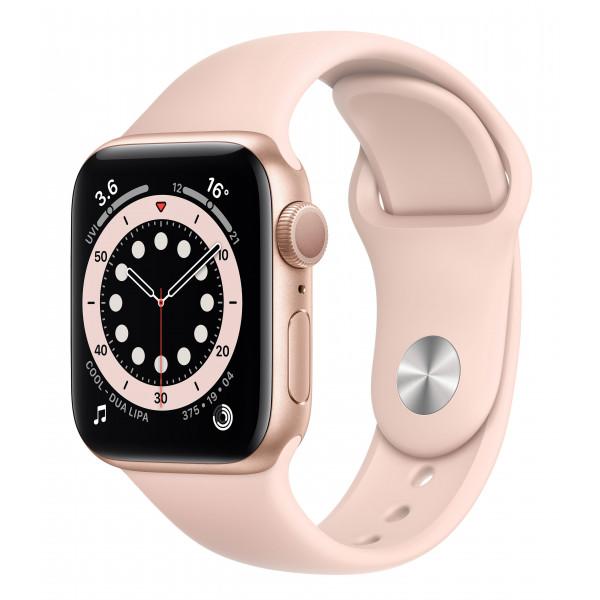 Apple Watch Series 6 GPS 40mm Gold Aluminum Case w. Pink Sand Sport B. (MG123UL/A) UACRF