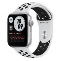 Apple Watch Nike Series 6 GPS 44mm Silver Aluminum Case w. Pure Platinum/Black Nike Sport B. (MG293UL/A) UACRF