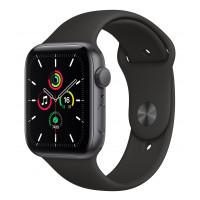 Apple Watch SE GPS 44mm Space Gray Aluminum Case w. Black Sport B. (MYDT2UL/A) UACRF