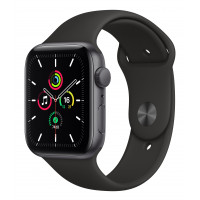Apple Watch SE GPS 40mm Space Gray Aluminum Case w. Black Sport B. (MYDP2UL/A) UACRF