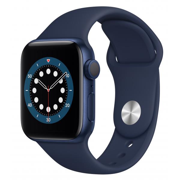 Apple Watch Series 6 GPS 40mm Blue Aluminum Case w. Deep Navy Sport B. (MG143UL/A) UACRF