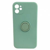 Чехол iPhone 12 Silicone Case with Ring Holder (mint)