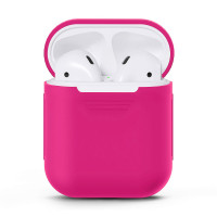 Чехол для AirPods 2/1 Full Silicone Case (Electric Pink)