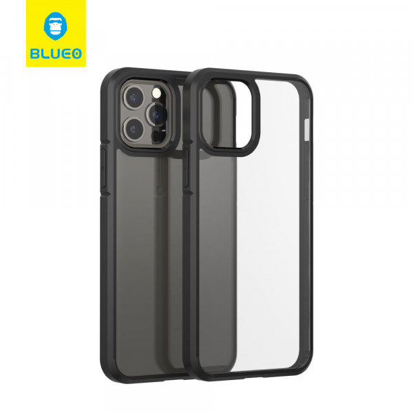 Чехол iPhone 12/12 Pro Blueo Crystal Drop Resistance Phone Case (Black)