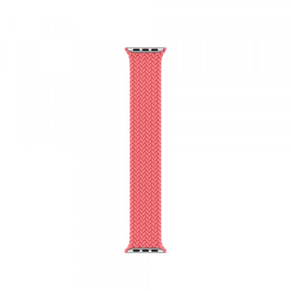 Ремешок-браслет для Apple Watch 38mm/40mm Braided Solo Loop (Pink Punch) M