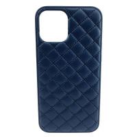 Чехол iPhone 12 Pro Max Quiled Leather Case (dark blue)