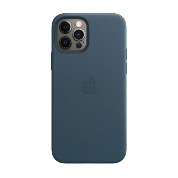 Чехол iPhone 12 Pro Max Apple Leather Case (Baltic blue)