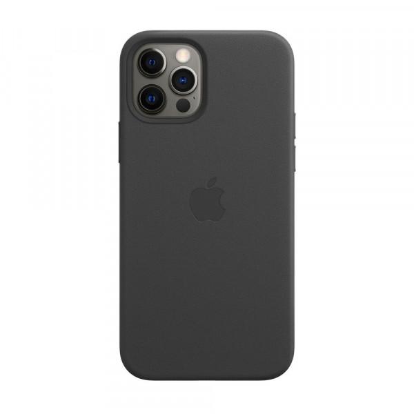Чехол iPhone 12 Pro Max Apple Leather Case (Black)
