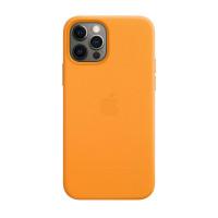 Чехол iPhone 12 Pro Max Apple Leather Case (California poppy)