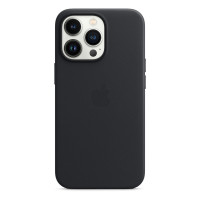 Чехол для iPhone 13 Pro Apple Leather Case with MagSafe (Midnight)