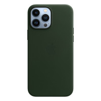 Чехол для iPhone 13 Pro Apple Leather Case with MagSafe (Sequoia Green)