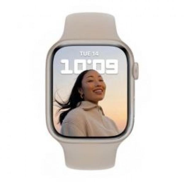 Apple Watch Series 7 GPS 41mm Starlight Aluminum Case With Starlight Sport Band