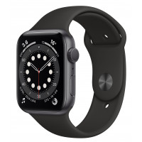 Apple Watch Series 6 GPS 44mm Space Gray Aluminum Case w. Black Sport B. (M00H3UL/A) UACRF