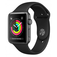 Apple Watch Series 3 GPS 38mm Space Gray Aluminum Case with Black Sport Band (MTF02FS/A) UACRF