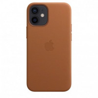 Чехол iPhone 12 mini Apple Leather Case (Saddle brown)
