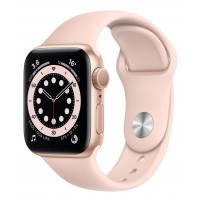 Apple Watch Series 6 GPS 44mm Gold Aluminum Case w. Pink Sand Sport B. (M00E3UL/A) UACRF