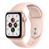 Apple Watch SE GPS 40mm Gold Aluminum Case w. Pink Sand Sport B. (MYDN2UL/A) UACRF
