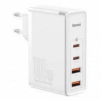 Сетевое зарядное устройство Baseus GaN PRO Quick Charger 2C+2U 100W EU White