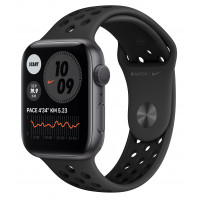 Apple Watch Nike Series 6 GPS 44mm Space Gray Aluminum Case w. Anthracite/Black Nike Sport B. (MG173UL/A) UACRF