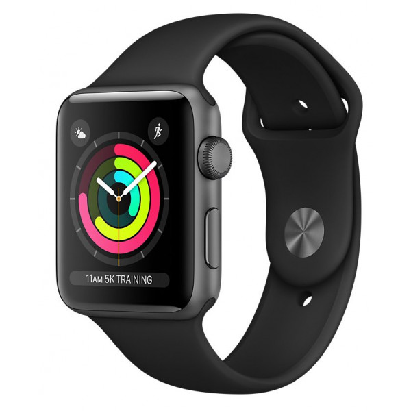 Apple Watch Series 3 GPS 42mm Space Gray Aluminum Case with Black Sport Band (MTF32FS/A) UACRF