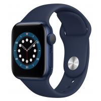 Apple Watch Series 6 GPS 44mm Blue Aluminum Case w. Deep Navy Sport B. (M00J3UL/A) UACRF
