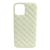 Чехол iPhone 12 Pro Max Quiled Leather Case (white)