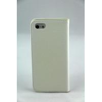 Чехол Книжка для iPhone 5/5S NUOKU LUXE (Белый) (Преcсованая кожа) фото 2