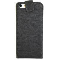 Чехол Флип для iPhone 5C NUOKU CRADLE (Черный) (Преcсованая кожа) фото 2