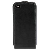 Чехол Флип для iPhone 4/4S NUOKU CRADLE (Черный) (Преcсованая кожа) фото 2