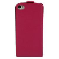 Чехол Флип для iPhone 4/4S NUOKU CRADLE (Розовый) (Преcсованая кожа) фото 2