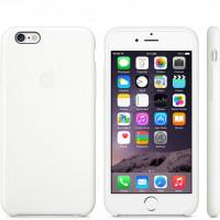 Чехол Накладка для iPhone 5/5S/SE Apple Silicone Case High Copy (Camelia White) (Полиулетан)