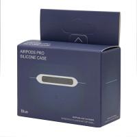 Чехол для AirPods Pro Silicone slim Case (blue cobalt) фото 2
