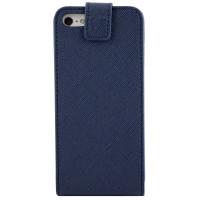 Чехол Флип для iPhone 5C NUOKU CRADLE (Синий) (Преcсованая кожа) фото 2