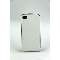 Чехол Флип для iPhone 4/4S NUOKU CRADLE (Белый) (Преcсованая кожа) фото 2